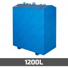 Cuve à mazout aérienne en acier - double paroi - 1200 litres