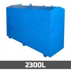 Cuve à mazout aérienne en acier - double paroi - 2300 litres
