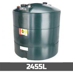 Cuve à mazout de 2455 litres en PE-HD - simple paroi