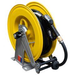 Enrouleur pour tuyau de mazout - métal (max. 10 mètres)