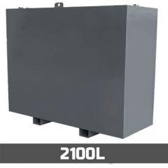 Cuve à mazout aérienne en acier - double paroi - 2100 litres