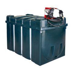Cuve mazout en PE de 2500 litres avec pompe diesel (220V) - montée sur cuve