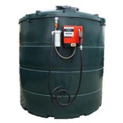 Cuve mazout en PE de 5000 litres avec pompe diesel (220V) - montée sur paroi