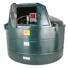 Cuve mazout en PE de 5000 litres avec pompe diesel (220V) - montée dans l'armoire