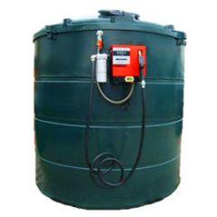Cuve mazout en PE de 9400 litres avec pompe diesel (220V)