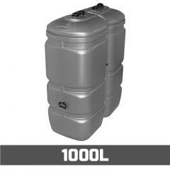 Citerne à mazout PE: 1000 litres - UV-résist - aérienne double paroi