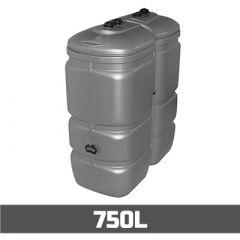 Citerne à mazout PE: 750 litres - UV-résist - aérienne double paroi
