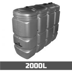 Citerne à mazout PE: 2000 litres - UV-résist - aérienne double paroi