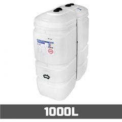 Cuve à mazout PE: 1000 litres compact - aérienne double paroi