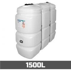 Cuve à mazout PE: 1500 litres standard - aérienne double paroi