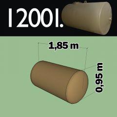 Citerne à mazout à enterrer en acier de 1200 litres