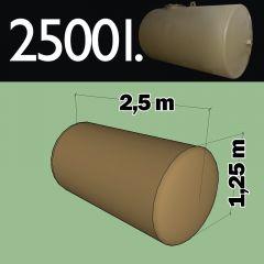 Citerne à mazout à enterrer en acier de 2500 litres