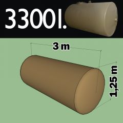 Citerne à mazout à enterrer en acier de 3300 litres