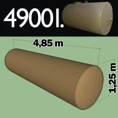 Citerne à mazout à enterrer en acier de 4900 litres