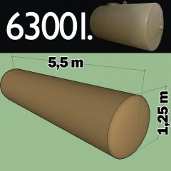 Citerne à mazout à enterrer en acier de 6300 litres