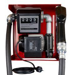 Pompe diesel 220V (60-80 L/M) avec compteur - Ouverte
