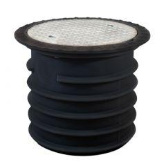 Couvercle en acier 600 mm avec rehausse renforcée 60 cm   pour citerne d'eau à enterrer NORDIC, NAUTILUS & BELUGA