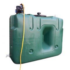 Citerne à eau de pluie rectangulaire aérienne - Avec pompe - 1500 litres