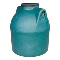 Citerne à eau de pluie souterraine ronde en PE de 1500 litres