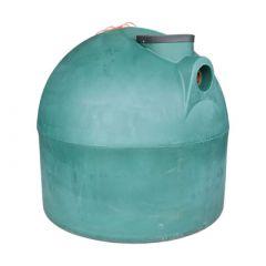 Citerne à eau de pluie souterraine ronde en PE de 5000 litres