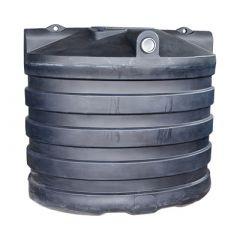Citerne à eau de pluie souterraine ovale en PE de 6000 litres
