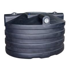 Citerne à eau de pluie souterraine ovale en PE de 4000 litres