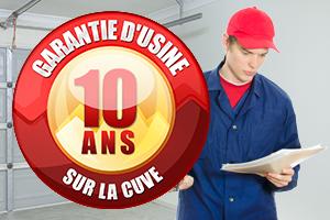 10 ans de garantie d'usine